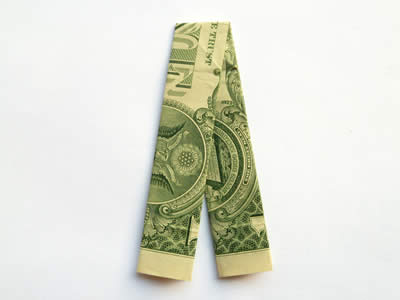 simple money origami trouser step 5