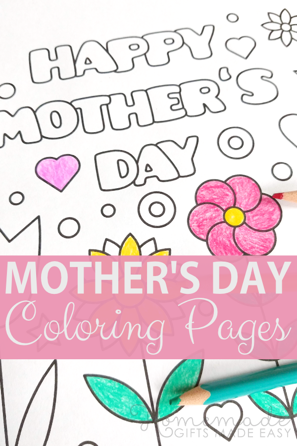 mothers day coloring pages - 57 Free Printable PDFs