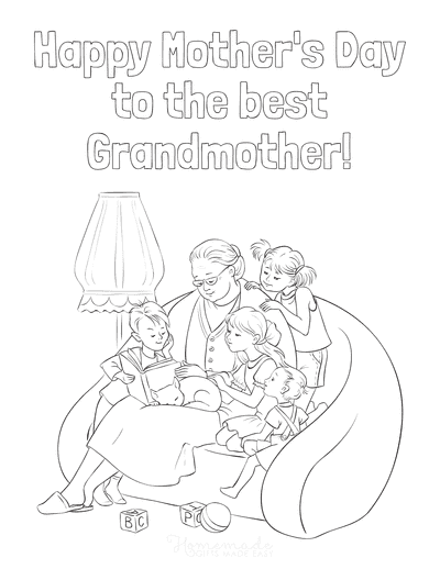 Mothers Day Coloring Pages Grandmother