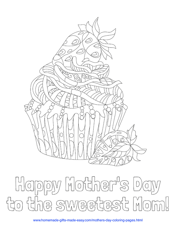 mother's day coloring pages - Happy Mother's Day to the sweetest mom