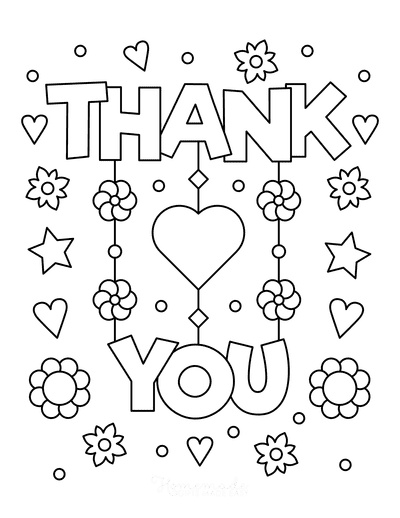 Mothers Day Coloring Pages Thank You