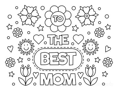 Mothers Day Coloring Pages to the Best Mom