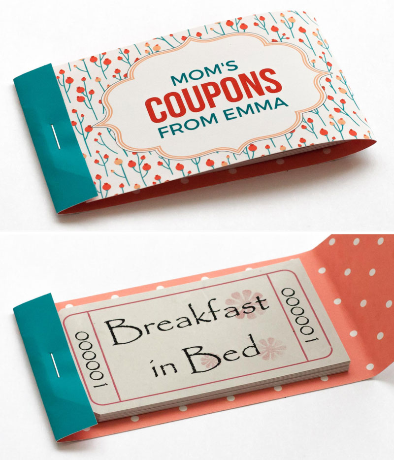 mothers day coupon book cover