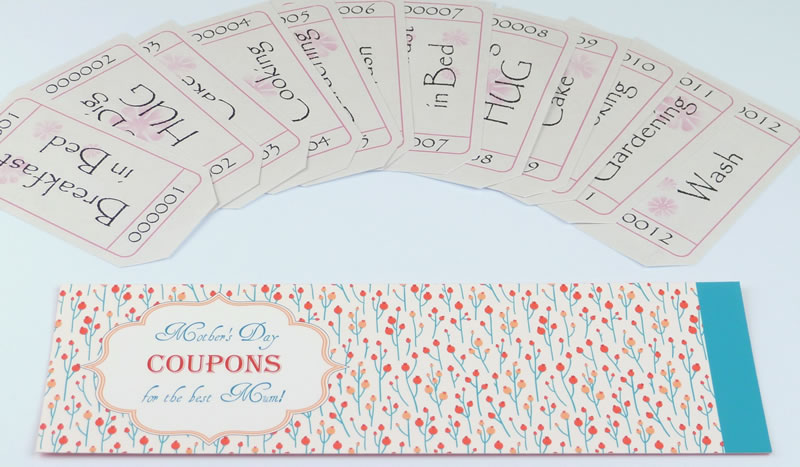 Homemade coupons for your mom
