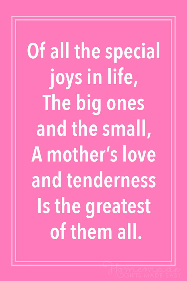 48 Best Mother S Day Poems For Sending To Your Mom Remember how much your mom loved those handmade cards you scribbled for her as a child? day poems for sending to your mom