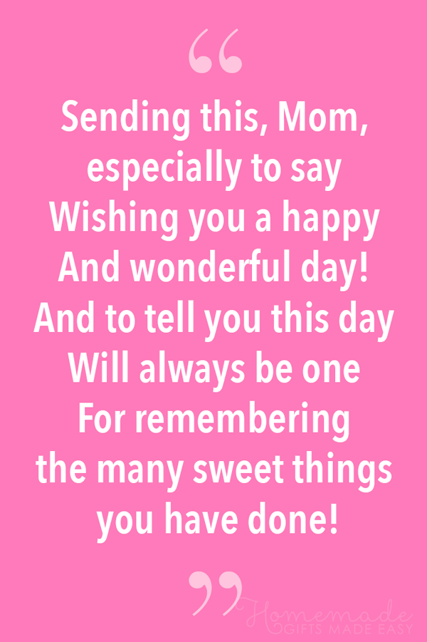 48 Best Mother S Day Poems For Sending To Your Mom