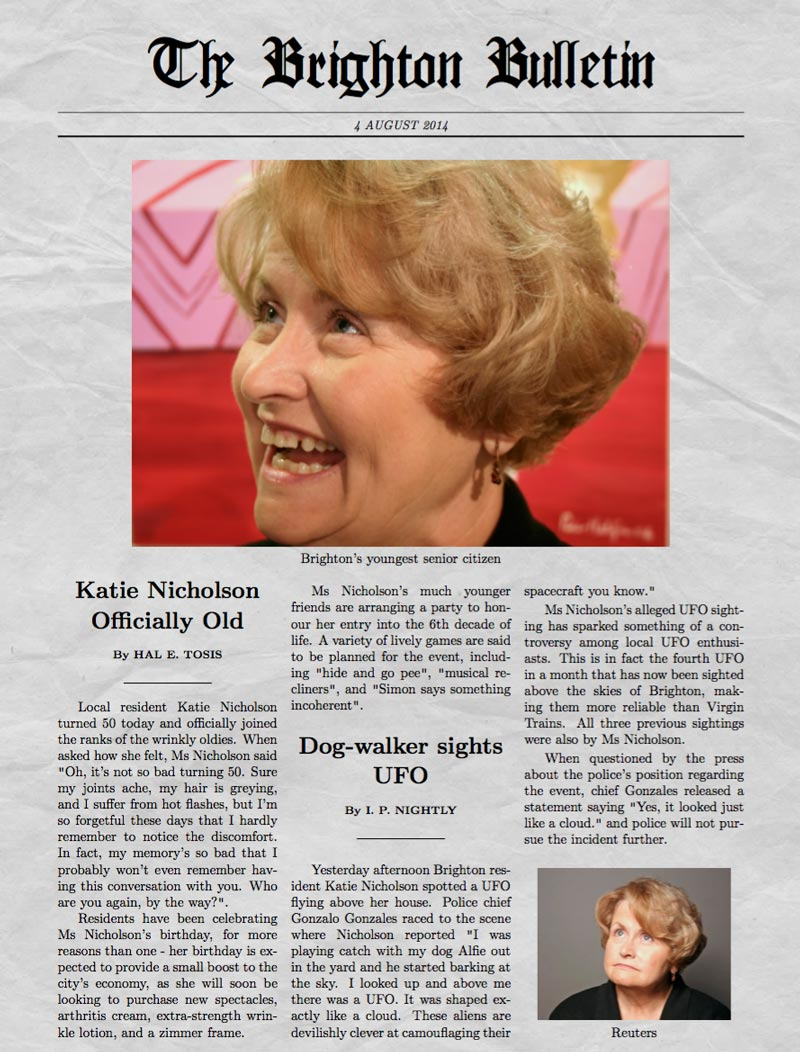 Funny Newspaper Generator With Your Own Picture Newspaper Generator Premium Katie Old x Newspaper Generator