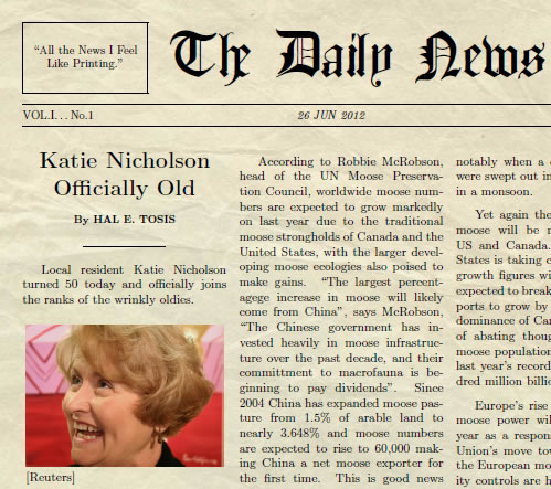 create your own newspaper article printable