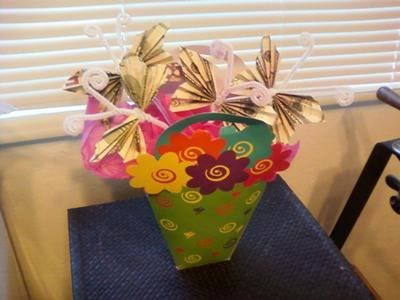 money origami butterfly bouquet