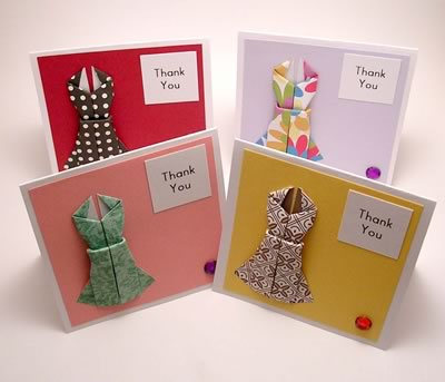 origami card mini thankyou