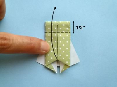 origami card dress step 10