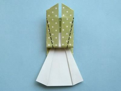 origami card dress step 11