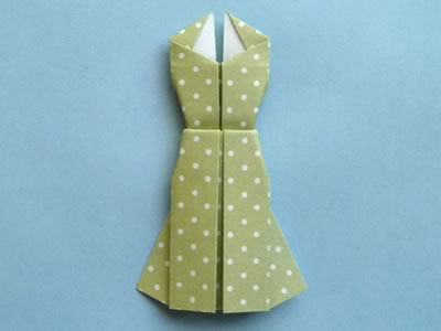 Homemade Origami Card To Make Cute Dress Design With Photo