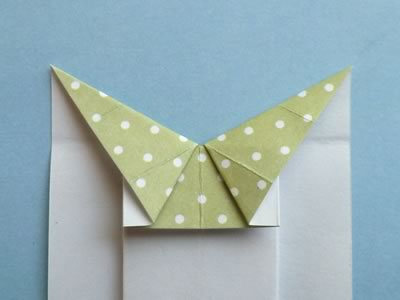 origami card dress step 6b