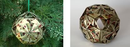 origami christmas ornaments header