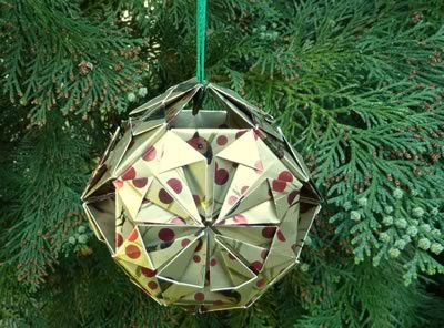 Origami Christmas Ornaments To Make With Photo Instructions