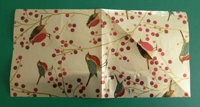 origami christmas ornaments step 1