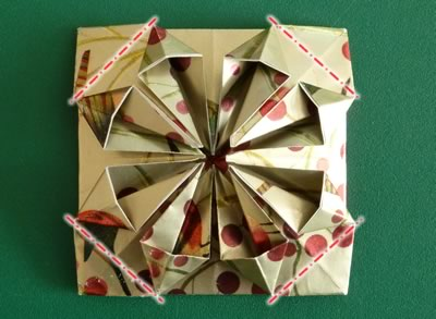 origami christmas ornaments step 11