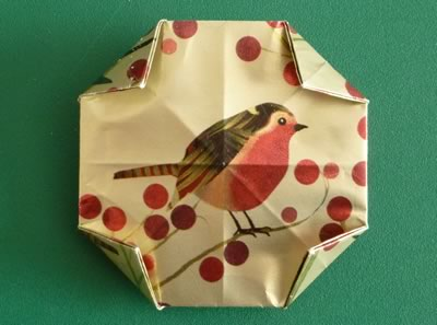 origami christmas ornaments step 11b