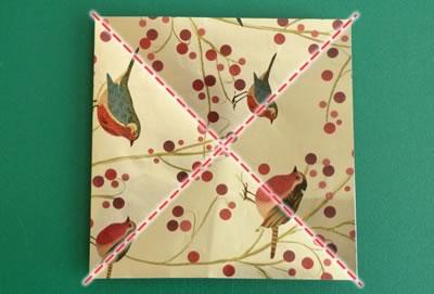 origami christmas ornaments step 2
