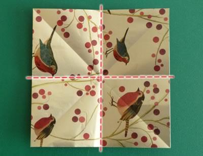 origami christmas ornaments step 2b