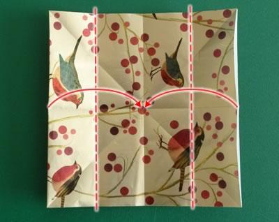 origami christmas ornaments step 3