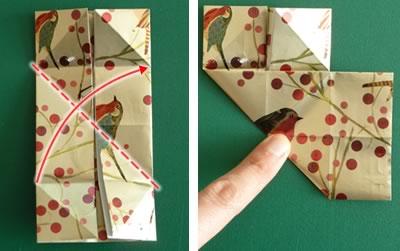 origami christmas ornaments step 5