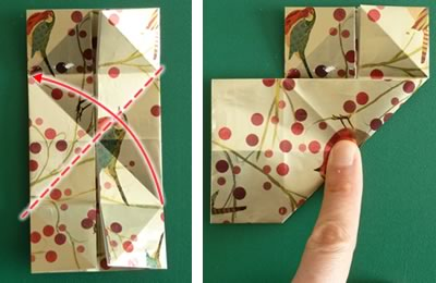 origami christmas ornaments step 5b