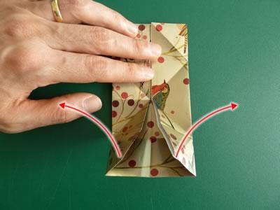 origami christmas ornaments step 6