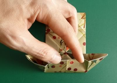 origami christmas ornaments step 6b