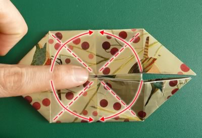 origami christmas ornaments step 7