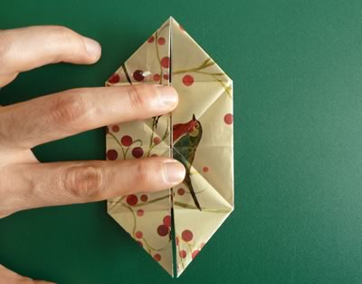origami christmas ornaments step 7b