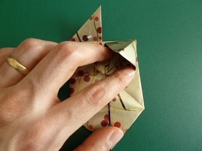 origami christmas ornaments step 8b