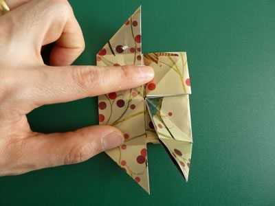 origami christmas ornaments step 8c
