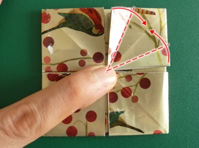 origami christmas ornaments step 9