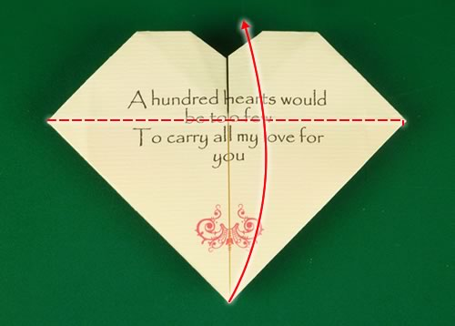 origami heart love note step 12