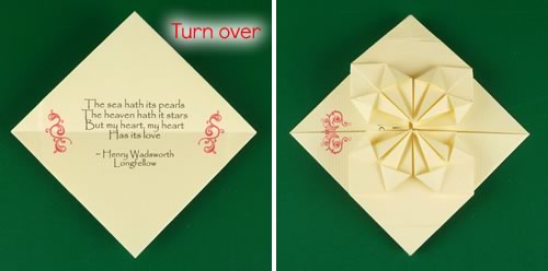 origami heart love note step 13