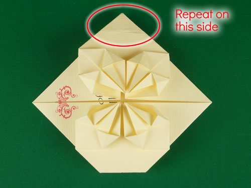 origami heart love note step 14