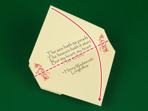 origami heart love note step 15