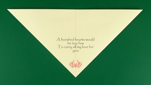 origami heart love note step 2