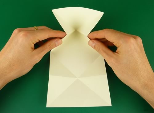 origami heart love note step 5