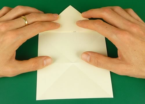 origami heart love note step 5b