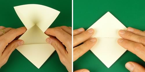 origami heart love note step 5c