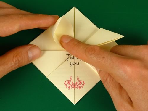 origami heart love note step 6b