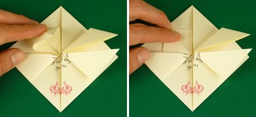 origami heart love note step 6c