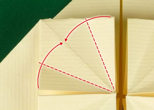 origami heart love note step 7b