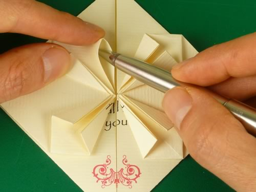 origami heart love note step 8
