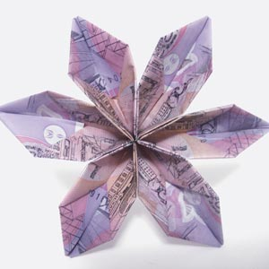 Instructions For Origami Money Flowers