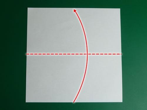 origami pentagon step 1
