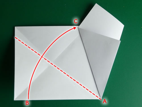 origami pentagon step 6